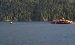With log barge Inside Passage.