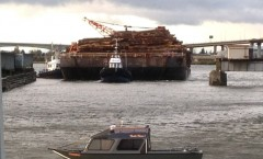 Heading up North Arm with a load of logs.